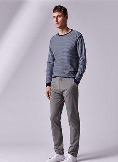 Pantalón chino elástico