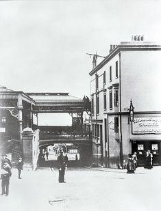 Entrance to Brighton Station, Trafalgar Street, Brighton, East Sussex [1920s].