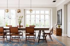 These new modern furniture trends will update and transform your home into the trendiest one on the block. Your home is ready -- are you? Rustic Farm Table, Style Deco, Dining Room Inspiration, Dining Room Design, Modern Furniture, Modern Interior, Interior Ideas, Interior Architecture, Furniture Ideas