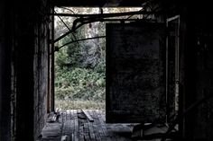 Behind the closed doors of an abandoned factory,