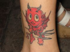 Cartoon+Devil+Tattoo+Design+8+For+Feet+picture+17245
