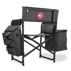Picnic Time Fusion Chair NBA Team: Atlanta Hawks/Grey-Black