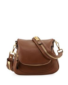 Jennifer Medium Leather Crossbody Bag, Caramel by Tom Ford at Neiman Marcus.