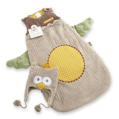 Amazon.com: Baby Aspen My Little Night Owl Snuggle Sack and Cap, 0-6 Months: Clothing
