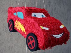 Pinata Lightning McQueen - Cars | Creative art Designs