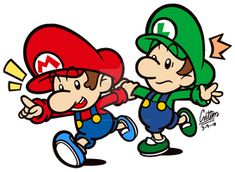It's about some time that I actually thought of drawing both Baby Mario and Baby Luigi again. Speaking of the Baby Bros. Super Mario Bros, Super Mario Brothers, Super Smash Bros, Pokemon Mewtwo, Pikachu, Mario Fan Art, Mario E Luigi, Rescue Rangers, Donkey Kong Country