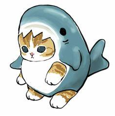 Cute Animal Drawings, Kawaii Drawings, Cute Little Kittens, Cute Cats, Kitten Drawing, Kawaii Illustration, Cute Pokemon, Kawaii Art, Cute Creatures
