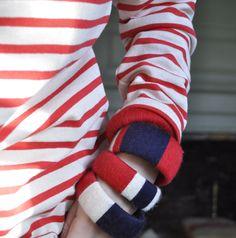 DIY yarn bracelets via katy elliott!
