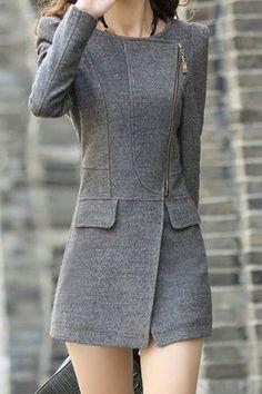 structured slimming coat