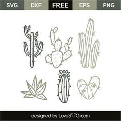 *** FREE SVG CUT FILE for Cricut, Silhouette and more *** Cactus