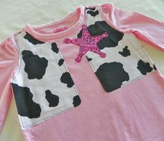 Pink Cowgirl Shirt by JensCraftCorner on Etsy, $15.00