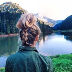 Messy wilderness hair for a day at the lake  #braids