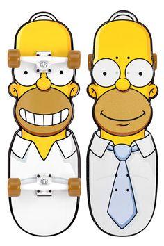 I'm sure Bart will use this one! Simpsons x santa cruz skateboard