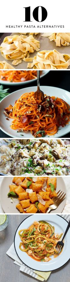 10 Lower Carb, Good-for-You Pastas to Satisfy Your Noodle Craving via @PureWow