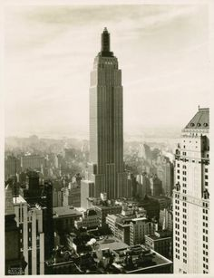 Under Construction: Empire State Building, NYC, New York  Historic Photo
