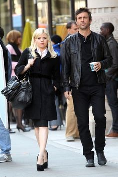 Jack Davenport - Megan Hilty Films 'Smash' in NYC