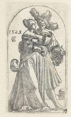 Jongeman en vrouw, Monogrammist CB (16e eeuw), 1528