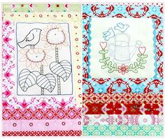 Remember me? The Seed Packet quilt redone - Red Brolly