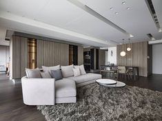 新北L宅 – 工一設計 Luxury Homes Interior, Interior Architecture, Interior Design, Storage Design, Luxury Living, Living Area, Living Room Designs, House Design, Lounge
