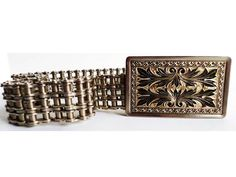 Vintage Motorcycle Chain Belt Chrome by ClearlyRustic on Etsy, $55.00