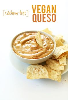 Vegan Queso Dip | Minimalist Baker MUST TRY THIS!