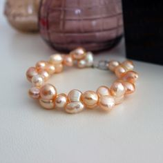 Enter this Giveaway by pinning this stunning pearl bracelet Fashion Bracelets, Jewelry Bracelets, Fashion Jewelry, Pearl Bracelets, Bib Necklaces, Gold Rings, Pearl Rings, Steampunk Diy, Pearl Color