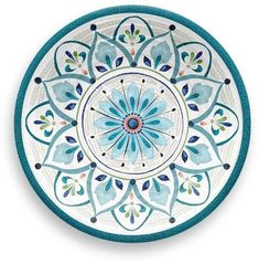 Newest Images Pottery Designs floral Thoughts Bungalow Rose Baeza Melamine Salad Plate Square Dinnerware Set, Dinnerware Sets, Melamine Dinnerware, Pottery Painting Designs, Paint Designs, Pottery Painting Ideas Easy, Pottery Designs, Pottery Ideas, Moroccan Plates