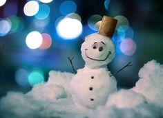 snowman bokeh