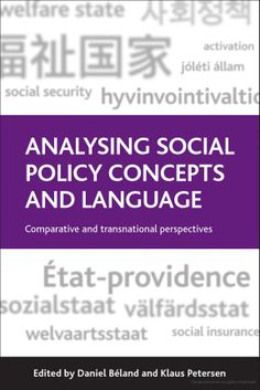 "Description: Social policy scholars and practitioners work with concepts such as ""welfare state"" and ""social security"" but where do these concepts come from and how has their meaning changed over time? Which are the dominant social policy concepts and how are they contested? Addressing such questions in a systematic manner for the first time, this edited collection analyses the concepts and language used to make sense of contemporary social policy."
