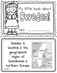 Sweden Booklet (A Country Study!) -- Use during social studies units about countries around the world! TeachersPayTeachers
