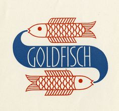 Designs by O.H.W.Hadank, an unsung hero of German design in the early 20th Century. (I like the fischies.)