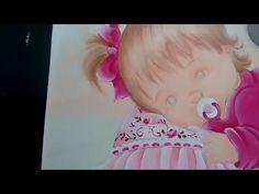 Pintura em Fralda - Como pintar Letras - Nome do bebê melissa - Eliana Rolim - YouTube
