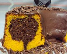Meu bolo de cenoura é assim.. (Izabel) - Culinária-Receitas - Mauro Rebelo Pastry Recipes, Baking Recipes, Cake Recipes, Poke Cakes, Cupcake Cakes, Churros, Nutella, Portuguese Desserts, Custard Cake