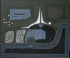Claude Carter / Goonboorooru - The Cave Natural ochres on canvas
