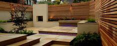 An Entertaining Garden Small Space Gardening, Garden Spaces, Backyard Garden Design, Patio Design, Outdoor Rooms, Outdoor Decor, Outdoor Living, Cedar Garden, Blue Tulips