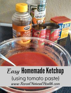 This homemade ketchup uses just 5 ingredients and takes less than 5 minutes to make!