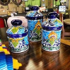 3 piece kitchen talavera jars contact us direclty for availability at 713 880 2105