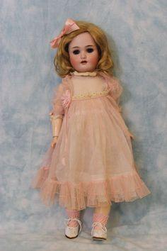"""18"""" Antique Simon & Halbig/ Heinrich Handwerck Doll German Bisque Dressed Cute!!"""