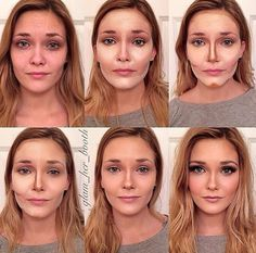 Le contouring de Glam her booth, Le Contouring, Contour Makeup, Contouring And Highlighting, Skin Makeup, Contour Kit, Foundation Contouring, Contour For Pale Skin, Makeup For Pale Skin, Contouring Tutorial