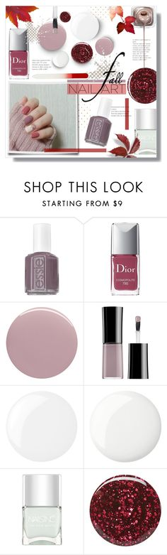 """Fall Nail Art"" by alexandrazeres ❤ liked on Polyvore featuring beauty, Essie, Christian Dior, Nails Inc., Giorgio Armani, Deborah Lippmann, Burberry, nailart, autumn and fallnails"
