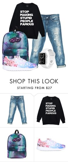 """""""Untitled #650"""" by sammi-mo ❤ liked on Polyvore featuring Sans Souci, Vans and NIKE"""