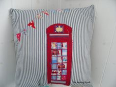Jubilee SALE British Red Telephone Box London Jubilee Bunting UK phone box. £25.00, via Etsy.