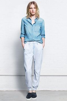 10 Brand-Spankin' New Denim Trends #refinery29  http://www.refinery29.com/denim-trends#slide13  Super-Light Denim
