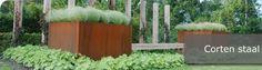 Cortenstaal is een onverwoestbaar materiaal met een warme uitstraling en bezit de eigenschap om zich bij blootstelling aan de buitenlucht te bedekken met een beschermende roestlaag. Deze roestlaag vorm bescherming tegen verdere corrosie. Het zal dus niet doorroesten.  te koop in onze webshop http://www.hettuinleven.com/c-2129438/cortenstaal/