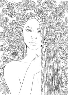 People Coloring Pages, Detailed Coloring Pages, Free Adult Coloring Pages, Coloring Pages For Girls, Cute Coloring Pages, Mandala Coloring Pages, Printable Coloring Pages, Free Coloring, Coloring Book Art