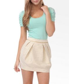Ruched Lace Sleeve Top | FOREVER21 - 2027705834