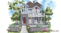 This beautiful mountain style house plan, the New Waterford, has 2590 square feet of living area, three bedrooms and two and bathrooms. Two Story House Plans, Two Story Homes, Custom Home Plans, Custom Homes, Villa, Mountain Style, Country Style House Plans, Luxury House Plans, Plan Design