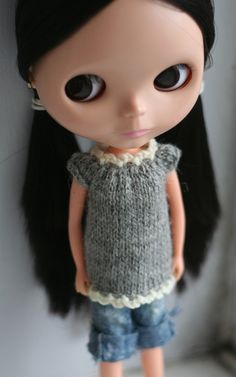 Knit sweater for Blythe by perfectlyplastic on Etsy, $13.50