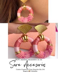 Thread Jewellery, Textile Jewelry, Macrame Jewelry, Beaded Earrings, Statement Earrings, Micro Macrame, Beading Projects, Bead Art, Jewelry Crafts