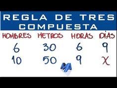 18 Ideas De Regla De Tres Compuesta Regla Matematicas Compuestas